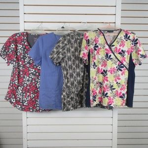 Cherokee Tops - Scrub top lot of 4 women's L